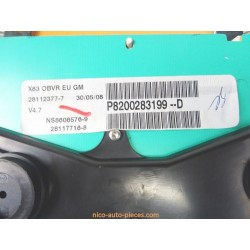 Grille de ventilation centrale BMW E39, réf: 8391179