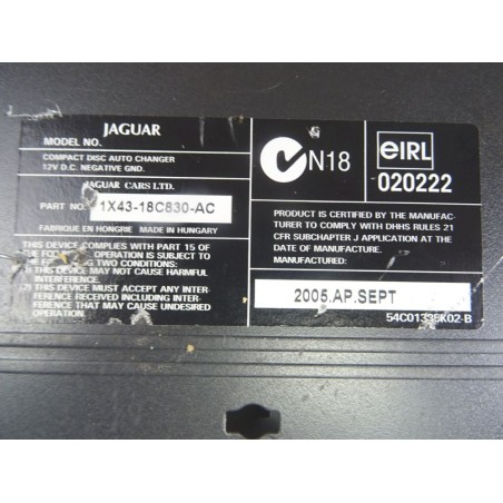 Chargeur CD 1X43-18C830-AC...